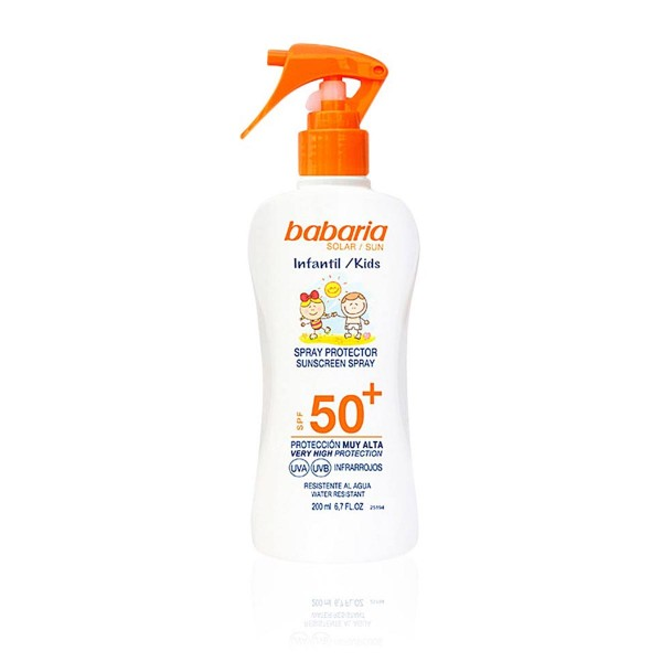 Babaria sun kids spf50+ spray 200ml vaporizador